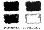 set of brush stroke and... | Shutterstock . vector #1344602279