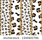 seamless leopard skin and... | Shutterstock .eps vector #1344602786