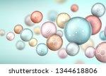 3d multicolored decorative... | Shutterstock . vector #1344618806