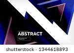tech futuristic geometric 3d... | Shutterstock .eps vector #1344618893