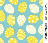 seamless pattern of easter... | Shutterstock .eps vector #1344621893