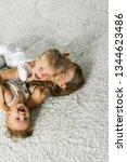 kids rage  siblings spend time... | Shutterstock . vector #1344623486