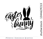 easter bunny greeting text... | Shutterstock .eps vector #1344629213