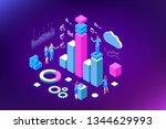 isometric expert team for data... | Shutterstock .eps vector #1344629993