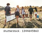 the young friends are preparing ... | Shutterstock . vector #1344645863