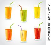 colorful set of realistic... | Shutterstock .eps vector #134464940