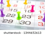 pin on calendar on last date of ... | Shutterstock . vector #1344652613