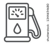 petrol line icon  fuel and... | Shutterstock .eps vector #1344654680