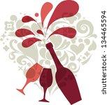 wedding invitation on black | Shutterstock .eps vector #134465594