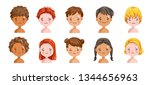 boys and girls set emotions ...   Shutterstock .eps vector #1344656963