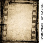 grunge film background with... | Shutterstock . vector #1344657233