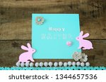 card with an inscription happy... | Shutterstock . vector #1344657536