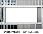 blank banner on office building ... | Shutterstock . vector #1344660803