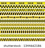 yellow and black caution tape ... | Shutterstock .eps vector #1344662186