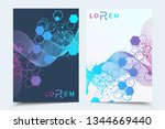 vector templates for brochure... | Shutterstock .eps vector #1344669440