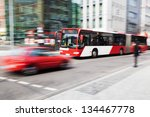 city traffic in motion blur | Shutterstock . vector #134467778