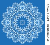 hand drawn lace background.... | Shutterstock .eps vector #1344679439