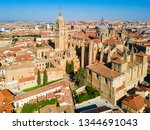 salamanca cathedral is a late... | Shutterstock . vector #1344691043