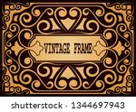 frame border vintage label or... | Shutterstock .eps vector #1344697943