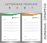 letterhead template set | Shutterstock .eps vector #1344699116