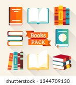 bright books and reading...   Shutterstock .eps vector #1344709130