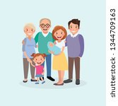 happy family. father  mother ... | Shutterstock .eps vector #1344709163