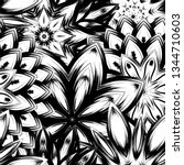 seamless floral background.... | Shutterstock .eps vector #1344710603