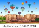 a beautiful cappadocia scene...   Shutterstock .eps vector #1344713210