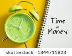 time is money concept with...   Shutterstock . vector #1344715823