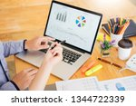 startup teamwork brainstorming...   Shutterstock . vector #1344722339