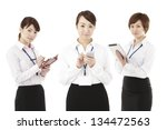 three business image  woman | Shutterstock . vector #134472563