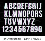 glitch font on distorted effect ... | Shutterstock .eps vector #1344770213