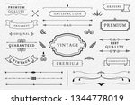 vintage premium label... | Shutterstock .eps vector #1344778019