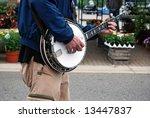 Banjo Player At Market