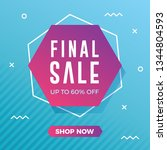 final sale banner with modern... | Shutterstock .eps vector #1344804593