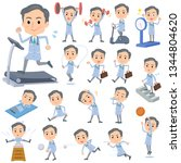 a set of doctor man on exercise ...   Shutterstock .eps vector #1344804620