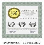 green certificate template....   Shutterstock .eps vector #1344812819