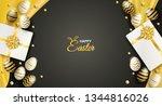 happy easter celebration.... | Shutterstock .eps vector #1344816026