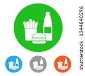 unhealthy food. icon set....   Shutterstock .eps vector #1344840296