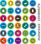 white solid icon set  barbell... | Shutterstock .eps vector #1344848276