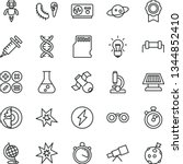 thin line vector icon set  ... | Shutterstock .eps vector #1344852410