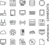 thin line vector icon set  ... | Shutterstock .eps vector #1344852476