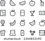 bold stroke vector icon set  ... | Shutterstock .eps vector #1344853190