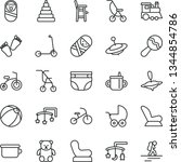 thin line vector icon set  ... | Shutterstock .eps vector #1344854786