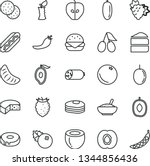 thin line vector icon set  ... | Shutterstock .eps vector #1344856436