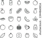 thin line vector icon set   hot ... | Shutterstock .eps vector #1344860816