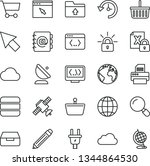 thin line vector icon set  ... | Shutterstock .eps vector #1344864530