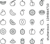 thin line vector icon set  ... | Shutterstock .eps vector #1344864710