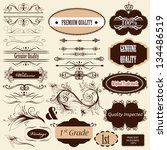 vector set of calligraphic... | Shutterstock .eps vector #134486519