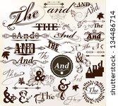 vector set of calligraphic ands ... | Shutterstock .eps vector #134486714